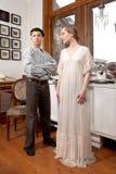 Marin de vintage et fille de victorian Photographie stock