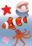 marin- djur Arkivfoto