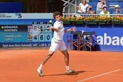 Marin Draganja (jugador de tenis de Croacia) juega en el ATP Barcelona Imagenes de archivo