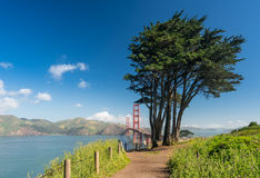 Marin Golden Gate Bridge od stanu parka i Headlands Obrazy Royalty Free