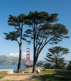 Marin Golden Gate Bridge od stanu parka i Headlands Fotografia Royalty Free
