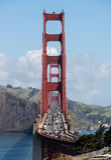 Marin Golden Gate Bridge od stanu parka i Headlands Zdjęcie Stock