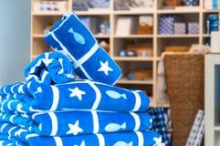 Marin- handdukar Arkivfoton