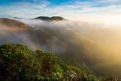 Marin Headland in fog. In the morning Royalty Free Stock Photo