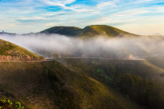 Marin Headland in mist stock foto