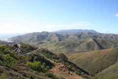 Marin Headlands Overlook High Quality royaltyfri bild