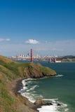 Marin Headlands, puente Golden Gate y San Francisco Imagen de archivo
