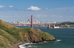 Marin Headlands, puente Golden Gate y San Francisco Foto de archivo libre de regalías