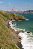 Marin Headlands, puente Golden Gate y San Francisco Imagenes de archivo