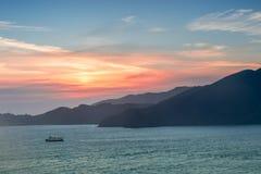 The Marin Headlands Sunset as seen from San Francisco. Sausalito in Marin County, California, USA Stock Photo