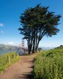 Marin Headlands y puente Golden Gate del parque de estado Imágenes de archivo libres de regalías