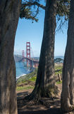 Marin Headlands y puente Golden Gate del parque de estado Foto de archivo