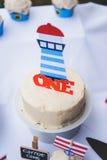 Marin- kaka för vanilj Royaltyfri Bild
