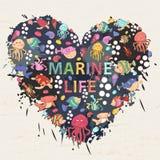 Marin- liv Royaltyfri Fotografi