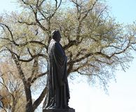Marin Luther Statue. Near Luther Place Memorial Church in Washington DC, USA royalty free stock photo