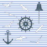 marin- modell stock illustrationer