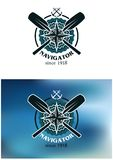 Marin- navigatöremblem eller emblem Royaltyfri Foto