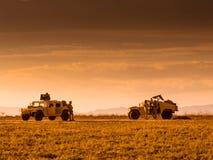 Marin- patrullera för patrullsoldater Arkivbild