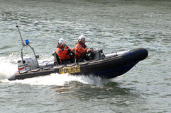 marin- patrullpolis Royaltyfri Fotografi