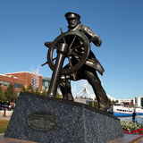 Marin Pier Chicago Statue Royaltyfria Bilder