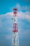 Marin- radartornrelä Royaltyfri Fotografi