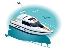 Marin- rekreation stock illustrationer