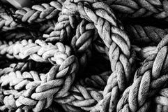 Marin- rep i svartvitt arkivbilder