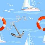 Marin- sömlös navigering stock illustrationer