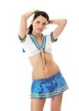marin- sexig uniform kvinna royaltyfri foto