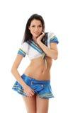 marin- sexig uniform kvinna royaltyfri bild