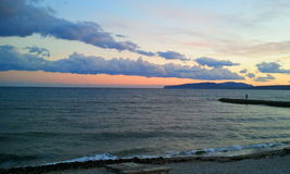 Marin- solnedgång Arkivbild