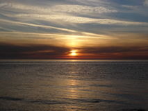 Marin- solnedgång Arkivbilder