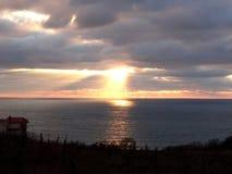 Marin- solnedgång Arkivfoton