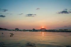 Marin- solnedgång Royaltyfria Bilder