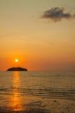 Marin- solnedgång Royaltyfri Fotografi