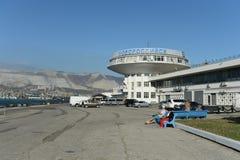 Marin- station i staden av Novorossiysk Arkivfoton