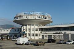 Marin- station i staden av Novorossiysk Arkivbilder