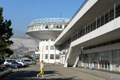 Marin- station i staden av Novorossiysk Royaltyfria Foton