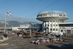 Marin- station i staden av Novorossiysk Fotografering för Bildbyråer