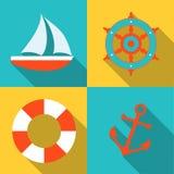 Marin- symboler Arkivfoto