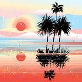 Marin- tropiskt landskap Arkivbild