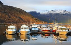 Marin yachts. In lodingen city in Northern Norway Royalty Free Stock Image