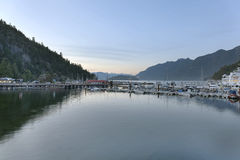 Marina à la baie scénique de Horsehoe Photo libre de droits