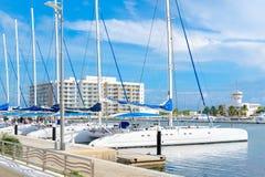 Marina à la plage de Varadero au Cuba image libre de droits