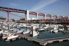 Marina à Lisbonne, Portugal Images stock