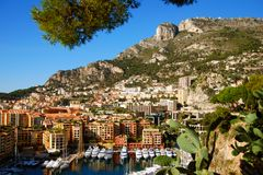 Marina à Monte Carlo Photo libre de droits
