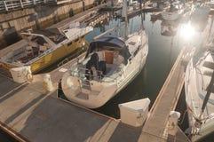 Marina łodzie Zdjęcia Royalty Free