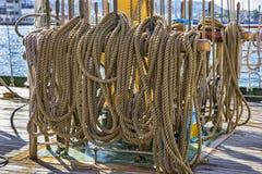 marina żaglówki arkany obraz stock
