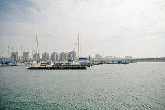 Marina . Ashdod - View of the marina . Mediterranean Sea. Israel royalty free stock photos