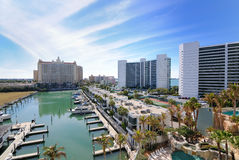 Marina. And luxury hotel high rises in Sarasota, Florida Stock Images